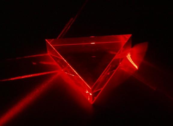 Prisma Laserbeleuchtet