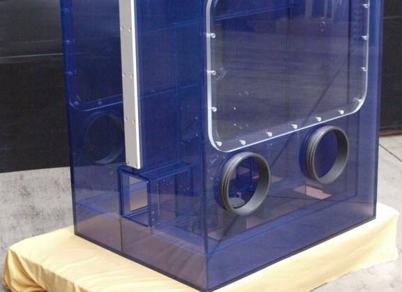 Glovebox aus PVC-Glas 1
