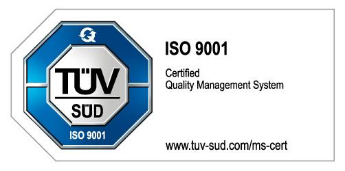 Zetifiziert nach ISO 9001:2015